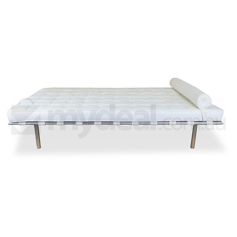 white barcelona day bed mies van der rohe replica buy leather sofas. Black Bedroom Furniture Sets. Home Design Ideas