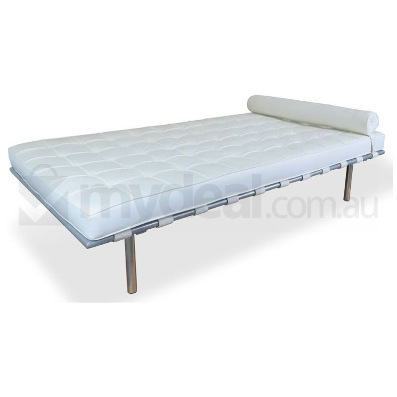 white barcelona day bed mies van der rohe replica buy. Black Bedroom Furniture Sets. Home Design Ideas