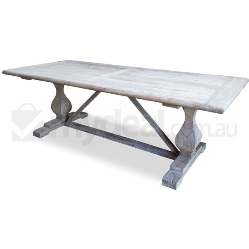 Titan White Washed Elm Wood Table Reclaimed Buy Dining Tables
