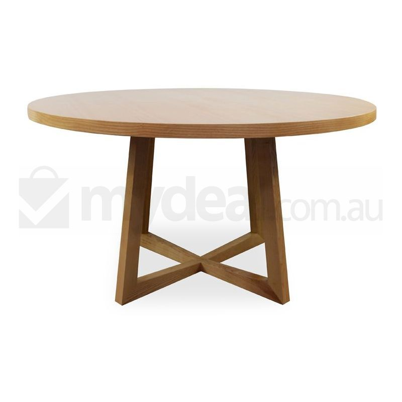 Zodiac modern wooden round dining table in natural buy for Natural wood round table