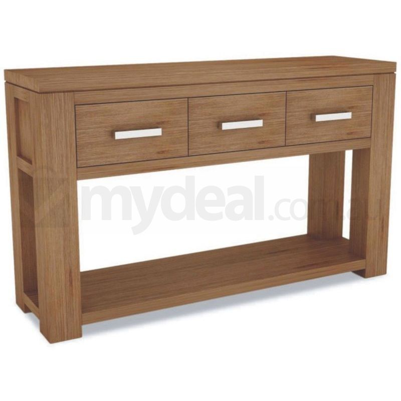 Tacoma Modern Wooden Hall Table With 3 Drawers Buy