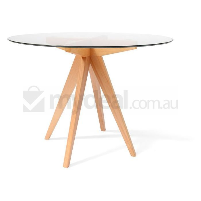 arrow round 100cm dining table with glass top buy dining tables