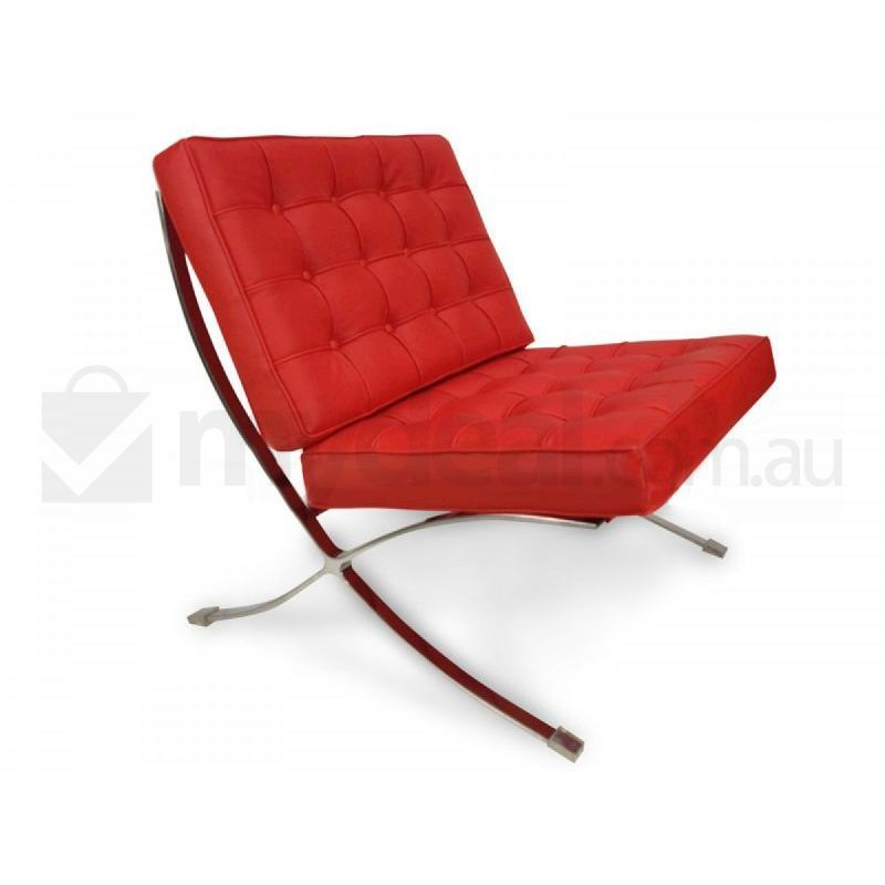 Premium van der rohe replica red barcelona chair buy for Barcelona chaise replica