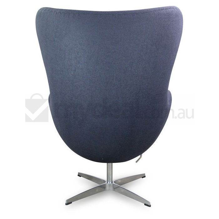 arne jacobsen replica charcoal wool egg armchair buy designer chairs