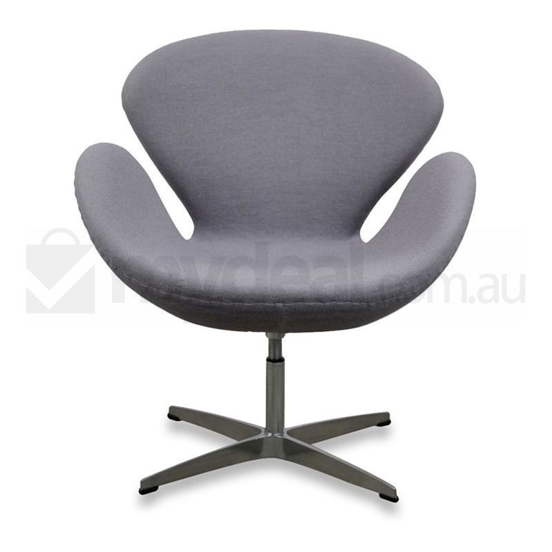 Arne jacobsen replica grey wool swivel swan chair buy chairs for Arne jacobsen replica