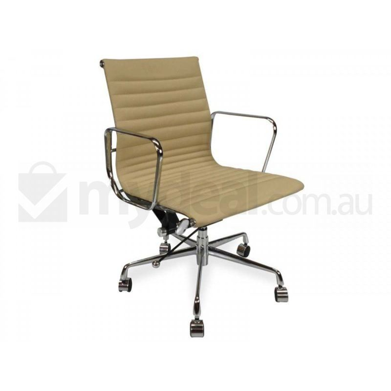 Replica Eames Aluminium Leather Office Chair Brown Buy Boardroom Chairs