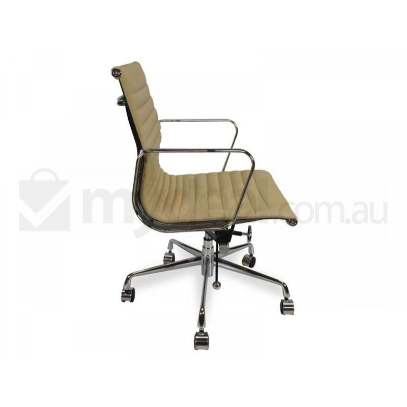 Replica Eames Aluminium Leather Office Chair Brown Buy Office Chairs