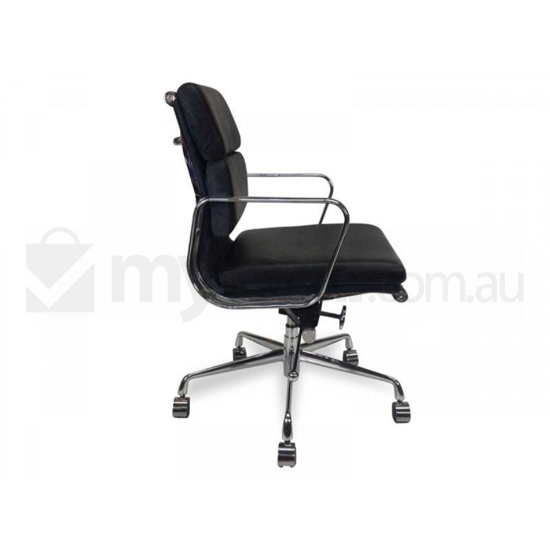 Black Soft Pad Leather Office Chair Eames Replica Buy Furniture