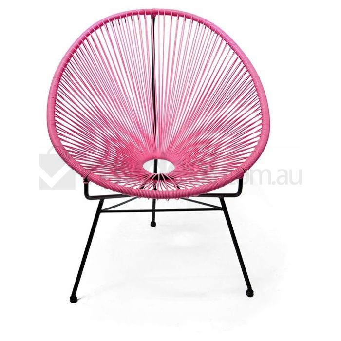 Replica Acapulco Wicker Modern Outdoor Chair Pink Buy
