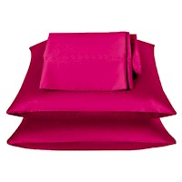 Hot Pink Luxury Satin Pillowcases x2 - 50cm x 75cm