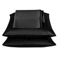 Black Luxury Satin Pillowcases x2 - 50cm x 75cm