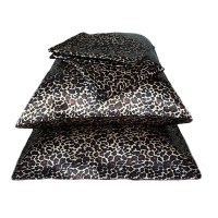 Leopard Print Luxury Satin Pillowcases x2 - 50x75cm