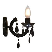 Black Acrylic Marie Therese Chandelier Wall Light