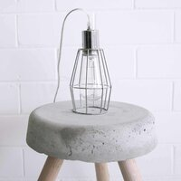 Industrial Metal Chrome Cage Light Pendant - Small