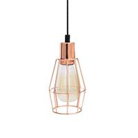 Industrial Wire Copper Cage Pendant Light - Small
