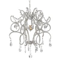 Shabby Jewel White Acrylic Clear Crystal Chandelier