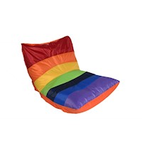 Retro Rainbow Indoor and Outdoor Beanbag - Orange