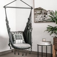 Bohemian Outdoor Hanging Hammock Chair in Charcoal