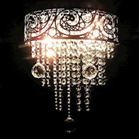 Le Grande Vintage Clear Crystal Wall Chandelier