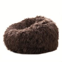 Large Beanbag Cover in Shaggy Brown Soft Faux Fur