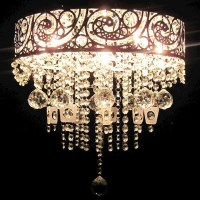 Le Grande Glass Crystal Chandelier with Metal Frame