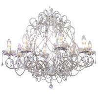 Layla Jane Glass Crystal Chandelier with 8 Arms