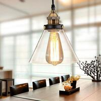 Sophie Glass Cone Pendant Light with Gold Fittings