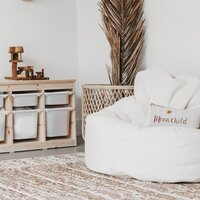 Leanback Fur Bean Bag Chair without Liner in Cream