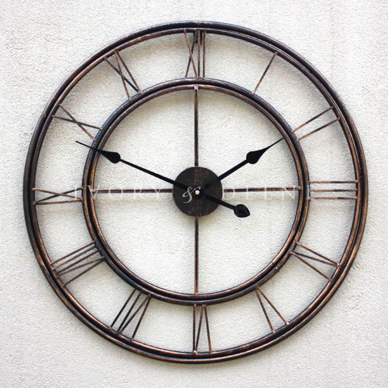 Trafalgar wrought iron modern large wall clock buy Oversized metal wall clocks