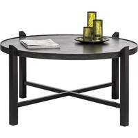 Large Coffee Table Wrought Iron Engraved Steel Top