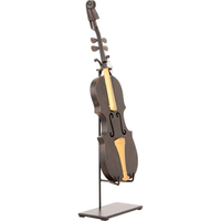 Handmade Wrought Iron Violin Statue in Black