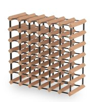 42 Bottle Wine Rack Storage System Pinewood Timber