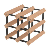 6 Bottle Wine Rack Storage System Pinewood Timber