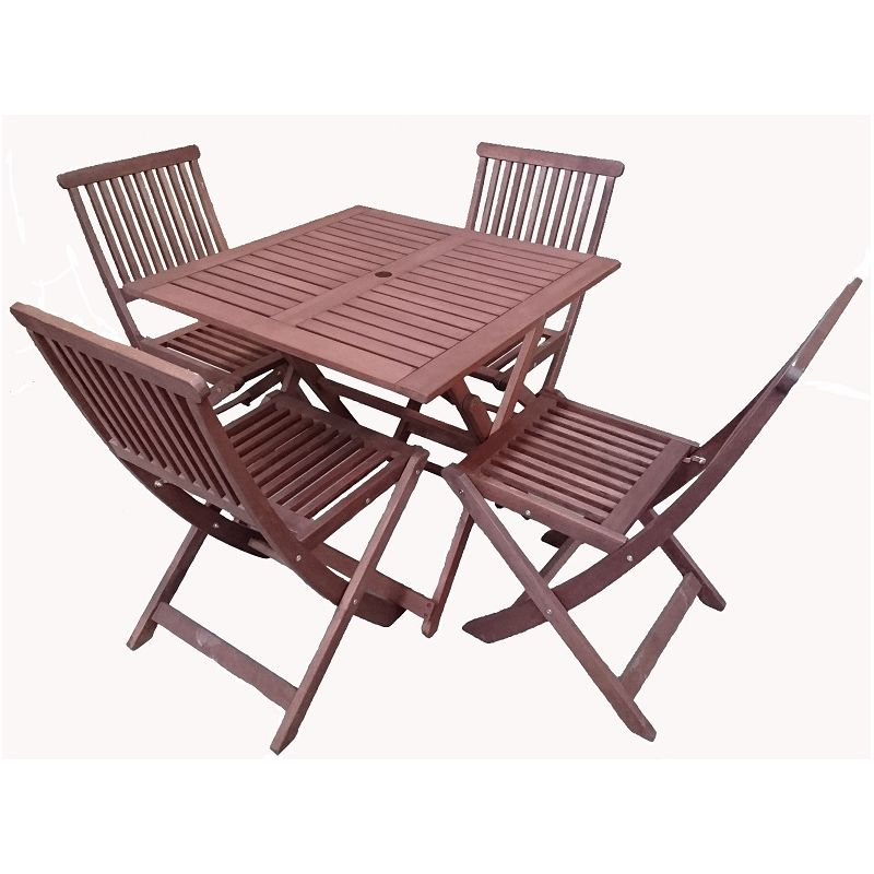 5pc foldable outdoor dining table chair set 80cm buy