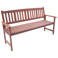 Outdoor 3 Seater Wooden Garden Bench Seat Chair