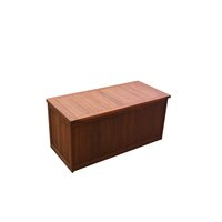 Natural Shorea Wooden Outdoor Cushion Storage Box