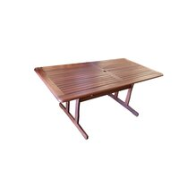 Tropical Wood Outdoor Dining Table Rectangular 1.8m