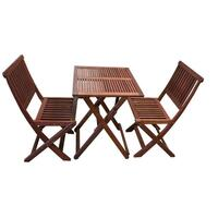 3pc Outdoor Dining Table and Chairs Set Foldable