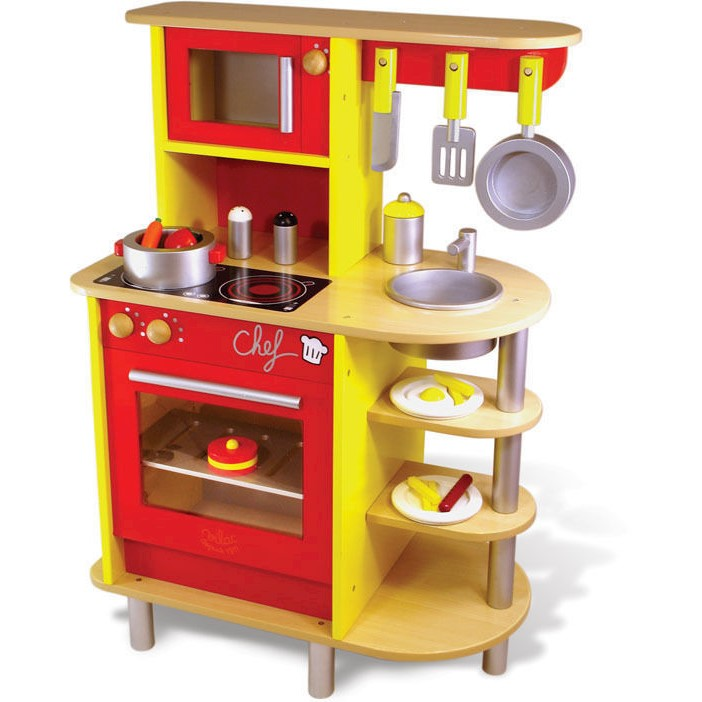 Vilac Kids Large Wooden Pretend Play Kitchen Set