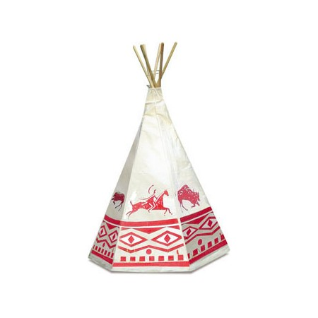 Vilac Kid's Red Indian Teepee Outdoor Play Tent