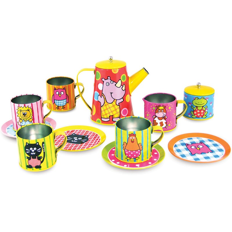 Vilac Kid's Coffee and Tea Metal Pretend Play Set