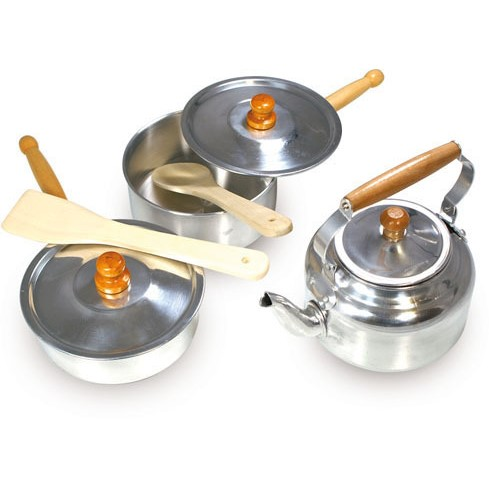 Vilac Kids Cooking Pots & Pans Pretend Play Set 8pc