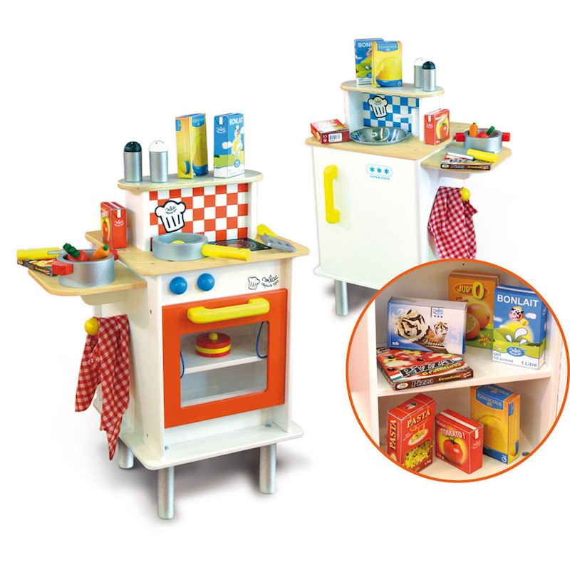 Vilac Kids Double Sided Play Kitchen w/ Accessories