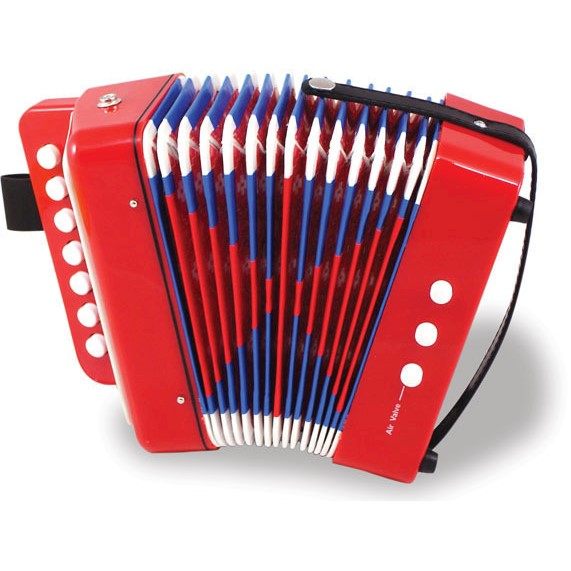 Vilac Kids Musical Instrument 14 Tone Accordion Toy
