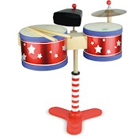 Vilac Kid's 4 Piece Instrument Junior Drum Set Kit