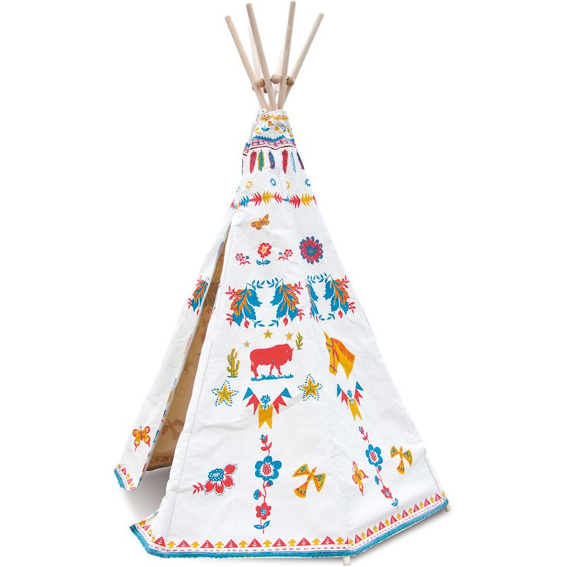 Vilac Kid's Indian Pop Up Teepee Outdoor Play Tent