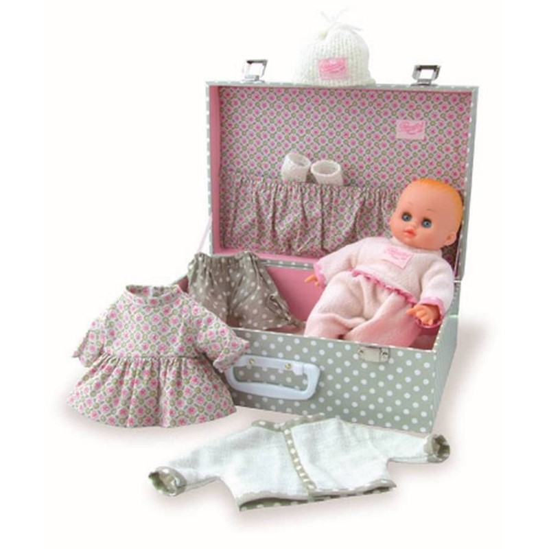 Petitcollin My Little Baby in a Suitcase Doll Set