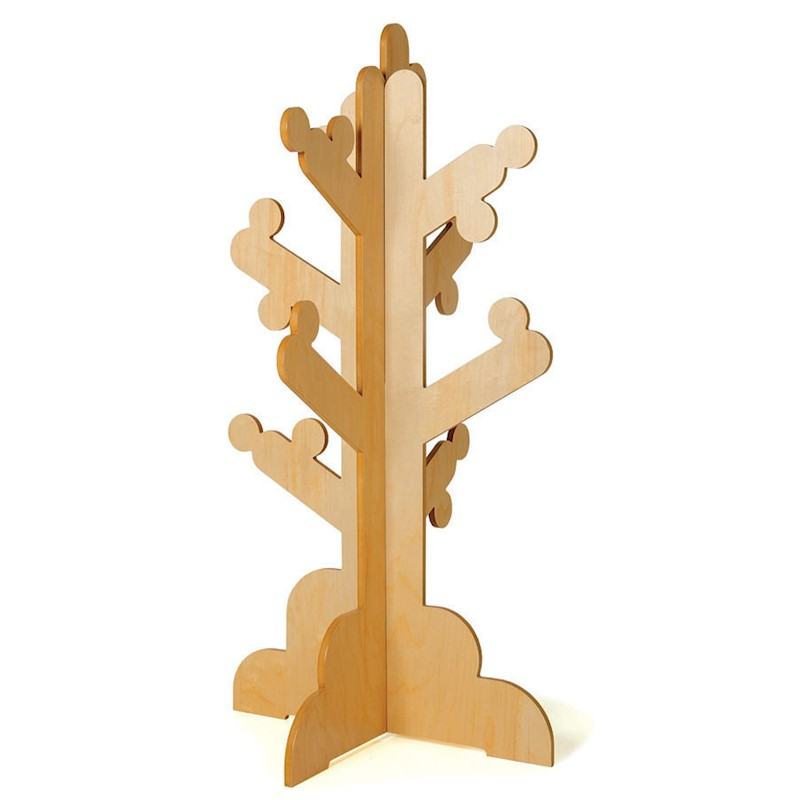 P'kolino Kid's Clothes Rack Coat Stand Tree Natural