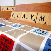 Giant Size Scrabble Set with Carry Bag 1.5x1.5m