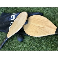 Wooden Frescobol Beach Paddle Ball Set with Bag